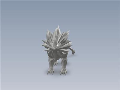 Solgaleo-3D打印就绪